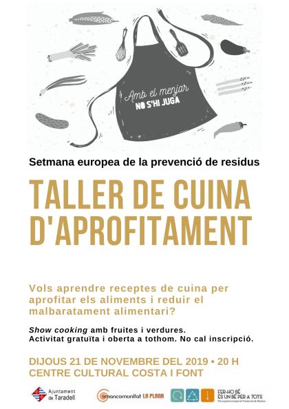 Taller cuina aprofitament Taradell 21.11.19